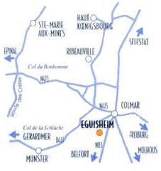 Carte d'Alsace
